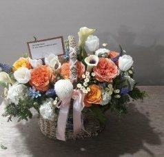 Корзины цветов/ корзины роз